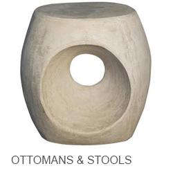 Noir Ottomans, Stools, & Poufs