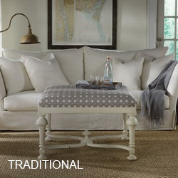 Traditional Ottomans & Stools