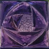 Purple Glass Rosette