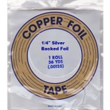 "EDCO 1/4"" Silver Back Copper Foil for Stained Glass"