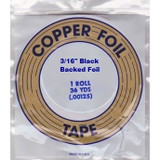 "EDCO 3/16"" Black Back Copper Foil for Stained Glass"