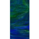 """Santorini"" - Dark Blue & Medium Green Wispy Opal (WO197-6) - 6"" x 12"" Sheet"