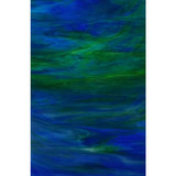 """Santorini"" - Dark Blue & Medium Green Wispy Opal (WO197-8) - 8"" x 12"" Sheet"
