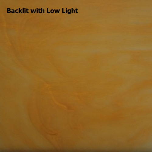 "Medium Amber & White Opalescent (58D) - 12"" x 12"""