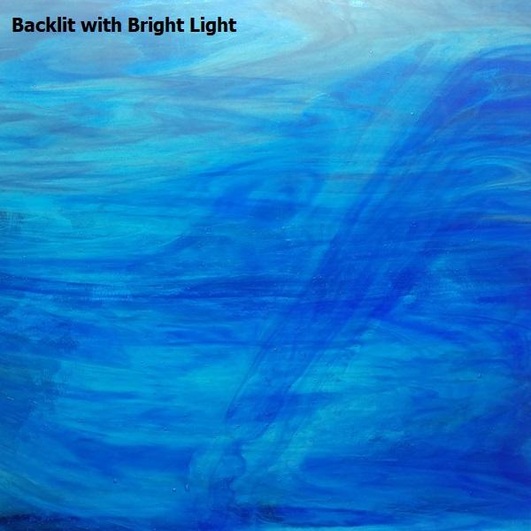 Sky Blue & Dark Blue with White Wispy Opal