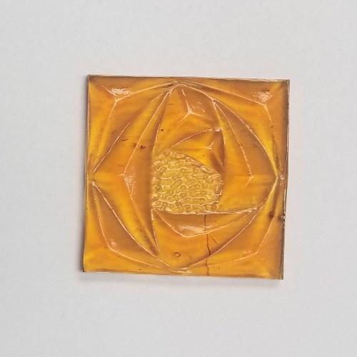 Embossed Glass Rosette