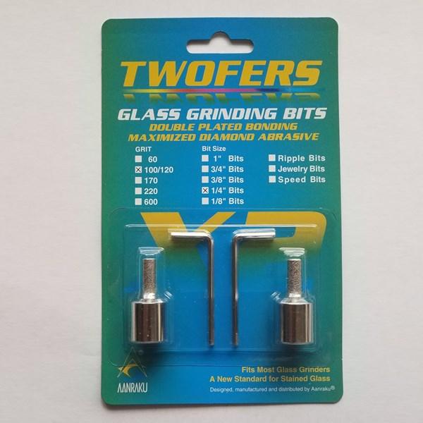 """1/4"""" Twofer Grinder Bits - Standard Grit"""