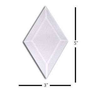 "3"" x 5"" Diamond Glass Bevel"