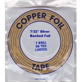 """EDCO 7/32"""" Silver Back Copper Foil for Stained Glass"""