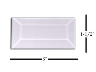 "1-1/2"" x 3"" Strip Glass Bevel"