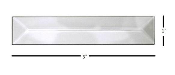 "1"" x 5"" Strip Glass Bevel"