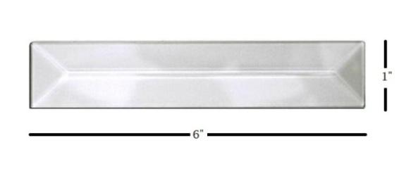 "1"" x 6"" Strip Glass Bevel"