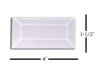 "1-1/2"" x 4"" Strip Glass Bevel"