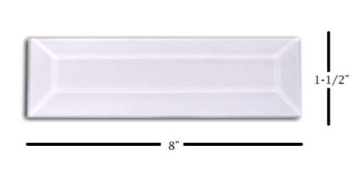 "1-1/2"" x 8"" Strip Glass Bevel"
