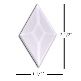 "1-1/2"" x 2-1/2"" Diamond Glass Bevel"