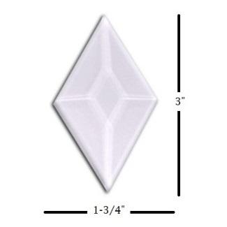 "1-3/4"" x 3"" Diamond Glass Bevel"