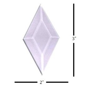 "2"" x 3"" Diamond Glass Bevel"