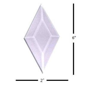 "2"" x 6"" Diamond Glass Bevel"