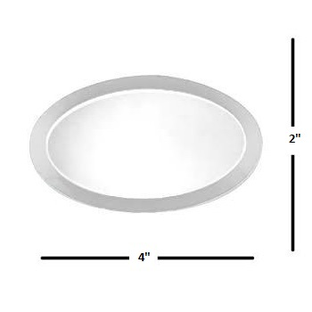 "2"" x 4"" Oval Glass Bevel"