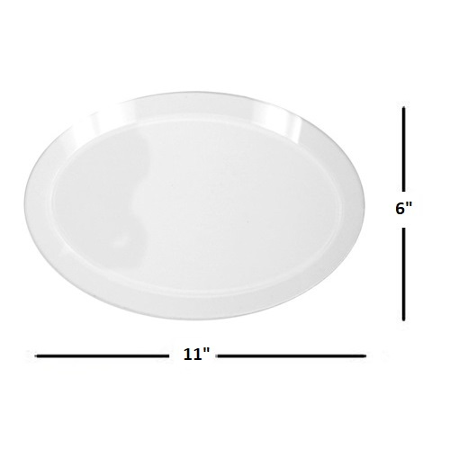 "6"" x 11"" Oval Glass Bevel"