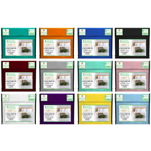 Aloe Vera Bamboo Hotel 6 Piece Sheet Set
