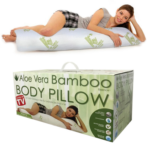 Hypoallergenic Aloe Vera Bamboo Memory Foam Full Body Pillow