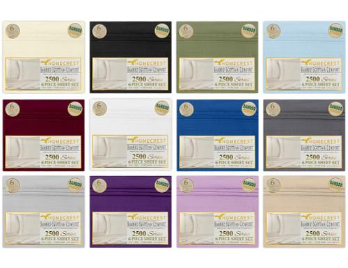 Homecrest 2500 Series 6 Piece Sheet Set