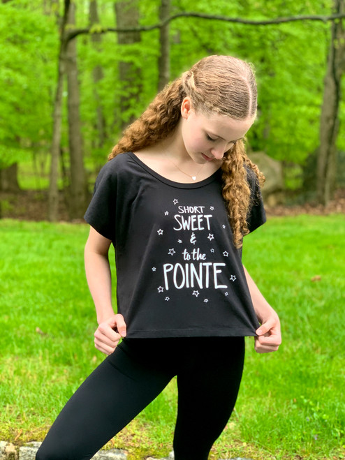 To The Pointe Black Crop Top