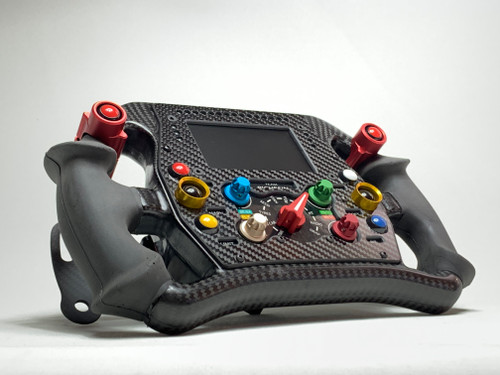 Indy19 Formula style sim racing full carbon fiber wired steering wheel