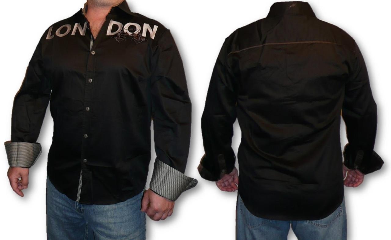 8c4e93f2 Men's Dress Shirt Cavalry London Slim Fit Fashion