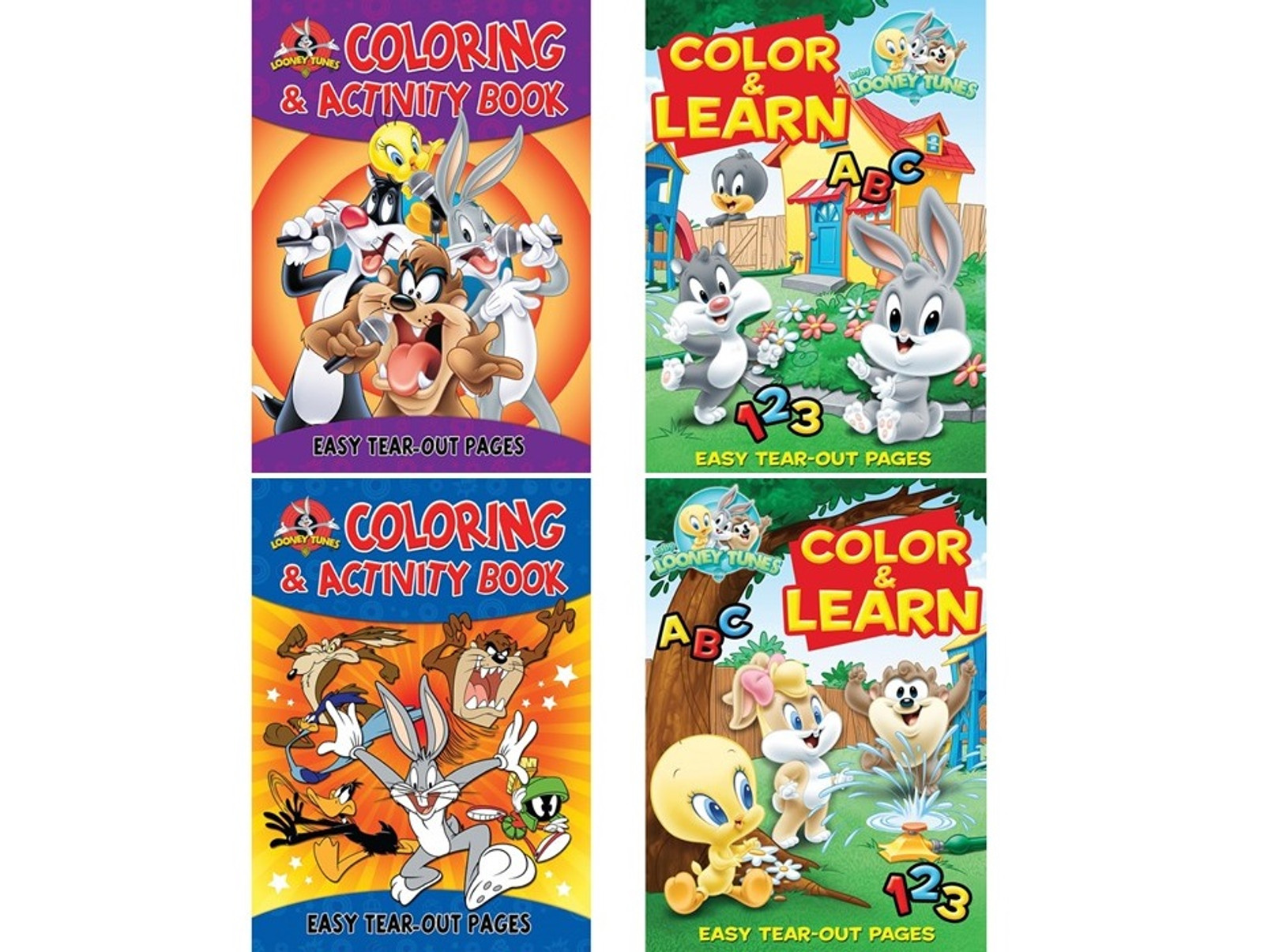 - Children's ABC & Numbers Looney Tunes Coloring Books