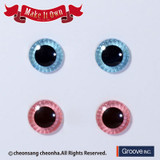 Eyechip: Aqua Blue & Light Pink
