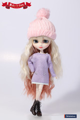 Knit One-piece Dress Lilac Version