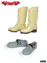 (MS-003)Shoes:Engineer Boots (Beige) x Crepe style sole shoes (Grey)