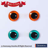 (ME-003)Eyechip: Orange & Green