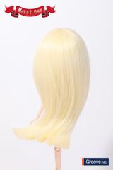 Wig:Semi-Long Hair (Platinum Gold)