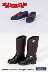 Shoes:Engineer Boots (Dark Brown) x Loafers