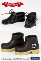 (MS-011)Taeyang Shoes:Tassel Shoes (Black) x Short Boots *