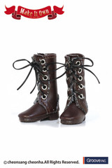 (MS-005)Shoes:Boots (Brown :Sweing)