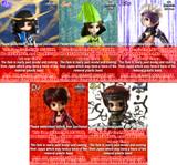 Complete Set :Date Masamune&Sanada Yukimura&Chosokabe Motochika & Mori Motonari&SARUTOBI SASUKE    (P031,D126 ,T218,I905,B313)