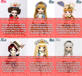 Complete Set:Classical Alice Pullip Ver&Classical White Rabbit&Classical Queen&Classical Alice Sepia Pullip Ver&Dal Classical Alice&Classical Mad Hatter(P096,P085,P118,P129,D146,I925)