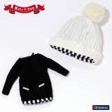 Knit One-piece Dress Black Version
