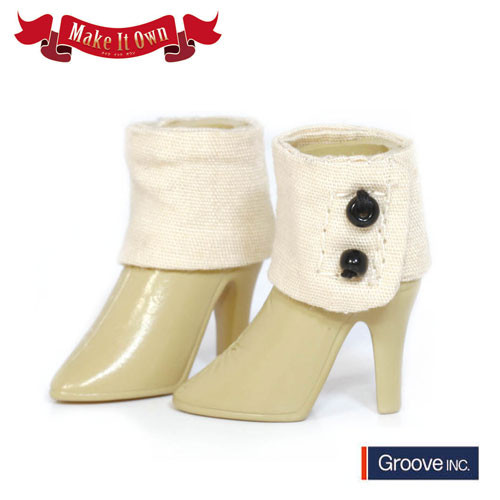 Shoes:Hight Heels (White) x Short Boots (Beige)