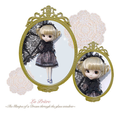 La Priere ~ The Glimpse of a Dream Through the Glass Window ~ Doll Outfit  : Black