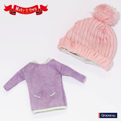 Knit One-piece Dress Lilac Version