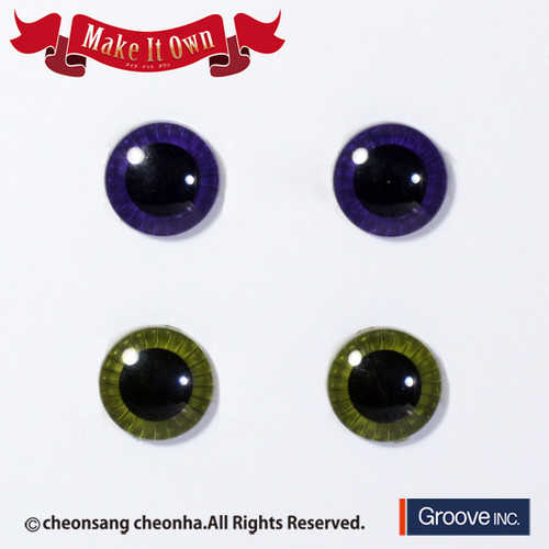 Eyechip:Dark Purple & Moss Green