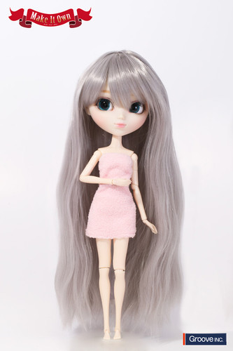 Wig:Wave Style Hair (Grey)