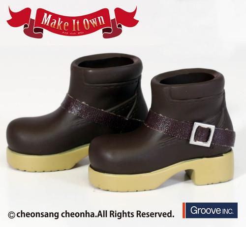 Shoes:Tassel Shoes (Black) x Short Boots *