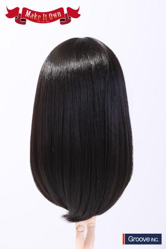 Wig:Semi-Long Hair (Natural Black)
