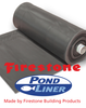 25ft (7.62m) Wide Firestone PondGard Pond Liner 1.02mm Thickness